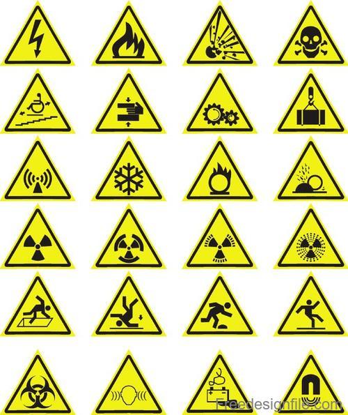 20 Kind Warning Sign Vector
