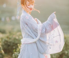 Asian girl wearing hanfu Stock Photo 01