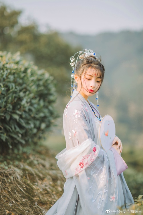 Asian girl wearing hanfu Stock Photo 02