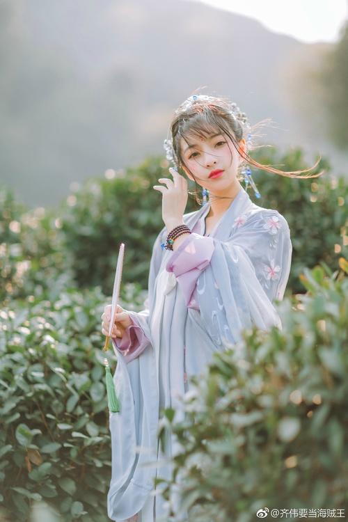 Asian girl wearing hanfu Stock Photo 03