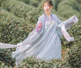 Asian girl wearing hanfu Stock Photo 04
