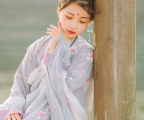 Asian girl wearing hanfu Stock Photo 05