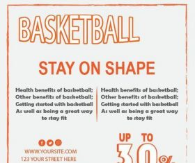 Basketball flyer temptlate vector design