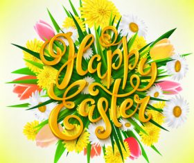 Beautiful easter flower design vector