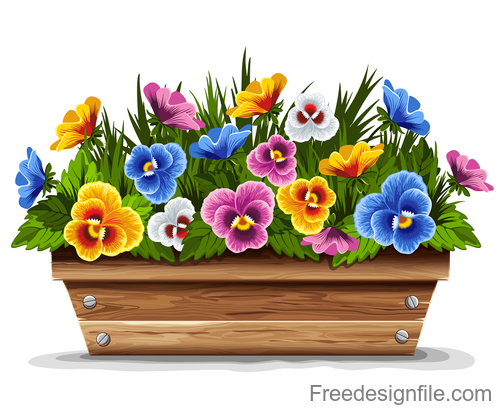 Beautiful spring flower vector design