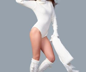 Beautiful winter fashion model Stock Photo 03