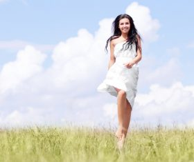 Beautiful women in nature Stock Photo 04