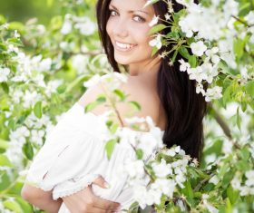 Beautiful women in nature Stock Photo 05