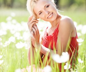 Beautiful women in nature Stock Photo 06