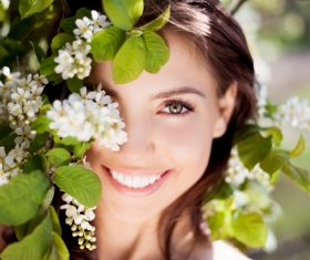 Beautiful women in nature Stock Photo 07
