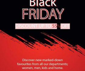 Black friday sale flyer template design vector 04