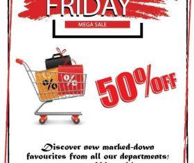 Black friday sale flyer template design vector 05