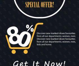 Black friday sale flyer template design vector 06