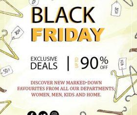 Black friday sale flyer template design vector 07