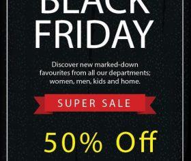 Black friday sale flyer template design vector 08
