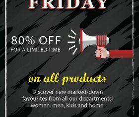 Black friday sale flyer template design vector 09