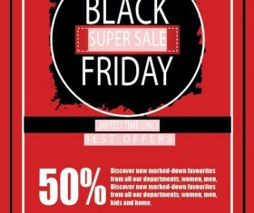 Black friday sale flyer template design vector 10