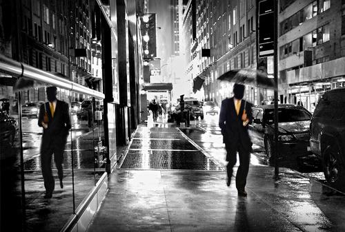 Black photo rainy day Stock Photo