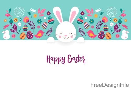 Blank easter card template vectors