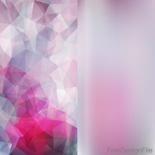 Bokeh background with geometric polygon vector