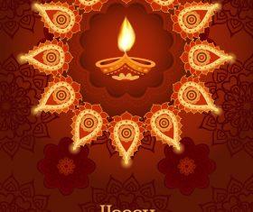 Brown diwali poster template vectors 01