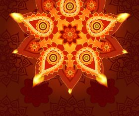 Brown diwali poster template vectors 02