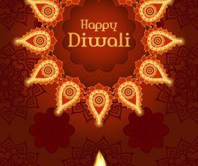 Brown diwali poster template vectors 03