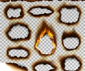 Burnt holes effect illustration vector 07