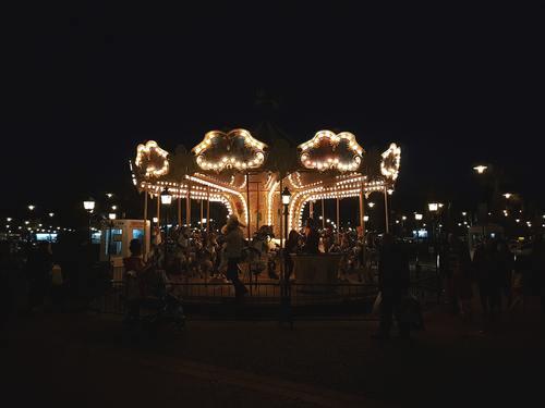 Carousel night view Stock Photo