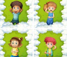Cartoon kids illustration design vector