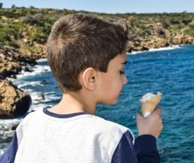 Child eating ice cream Stock Photo 03