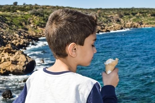 Child eating ice cream Stock Photo 03