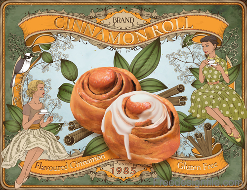 Cinnamon roll advertising poster vectors 02