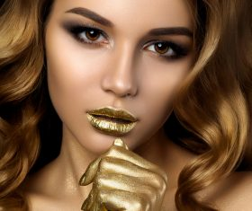 Cosmetics modern face care and hair daily make-up Stock Photo 01