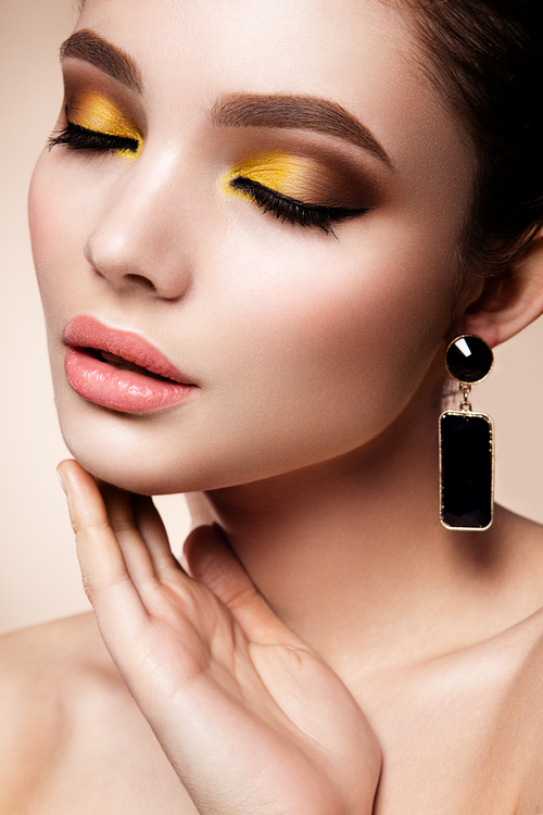 Cosmetics modern face care and hair daily make up Stock Photo 02