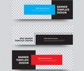 Creative banners template illustration vector 01