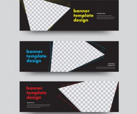 Creative banners template illustration vector 02