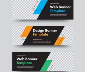 Creative banners template illustration vector 03