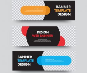 Creative banners template illustration vector 04