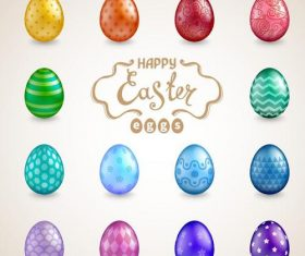 Creative easter egg design vector illustration 01