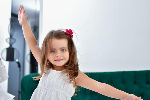 Cute big eyes little girl Stock Photo 02