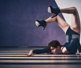Dancing woman Stock Photo 01
