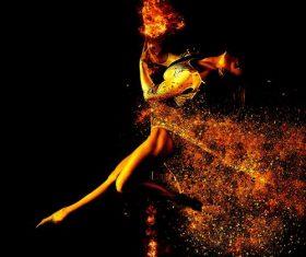 Dancing woman Stock Photo 04