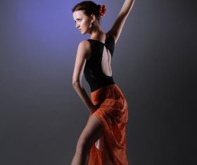 Dancing woman Stock Photo 05