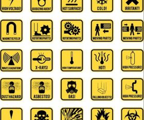 Danger warning signs design vector