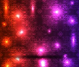 Decorative pattern with light dots vector