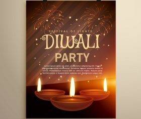 Diwali festival flyer template vector 01