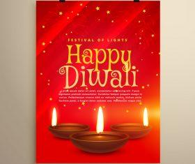 Diwali festival flyer template vector 02
