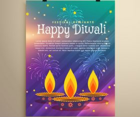 Diwali festival flyer template vector 06