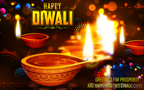 Diwali festival with blurs background vector 04